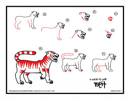 tiger drawing step by step how to draw a tiger for kids printable