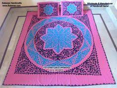 this is sindhi handmade ralli applique bed sheets also called