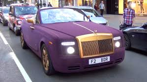matte rolls royce crazy purple velvet and gold rolls royce spotted hell yes or hell no