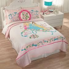 girls disney princess pink belle cinderella twin full queen quilt