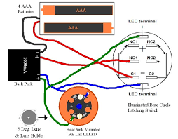 basic buck puck variant led wiring with a latching illuminated switch