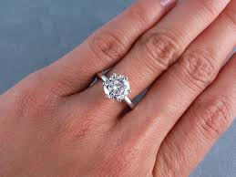 cut solitaire engagement rings ct cut solitaire engagement ring