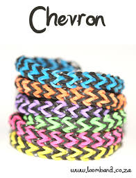 bracelet looms bands images Chevron loom band bracelet tutorial loomband jpg
