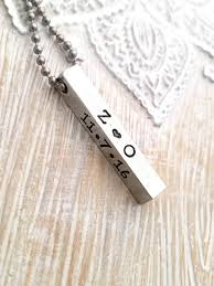 personalized mens necklaces mens necklace bar necklace necklace gift for
