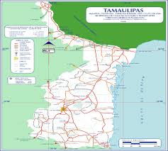 Map Mexico Tamaulipas Mexico Road Map U2022 Mapsof Net