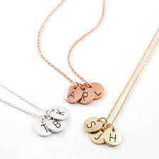Necklace With Initials Triple Letter Disc Necklace By J U0026s Jewellery Notonthehighstreet Com