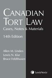 canadian tort law cases notes u0026 materials 14th edition