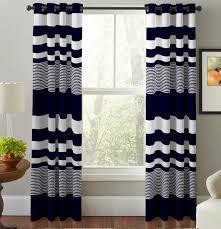 Sheer Grommet Curtains Pointehaven Mariner U0027s Striped Semi Sheer Grommet Curtain Panel