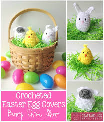 Knitted Easter Egg Decoration by Crochet Easter Egg Covers Free Crochet Sheep And Easter