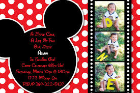 Mickey Mouse Invitation Cards Red And White Polka Dot Mickey Mouse By Heatherscreations11