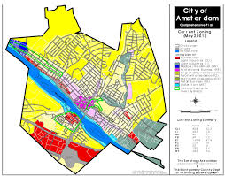 Map Of Amsterdam City Of Amsterdam 2001 Zoning Map U2013 Mohawk Valley Compass