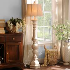 Tall Floor Lamps For Living Room Mackinaw Cream Floor Lamp Antiques Warm And Cream Floor Lamps