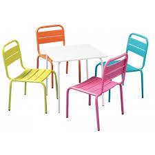 chaise de jardin enfant chaise de jardin enfant métal bleu