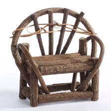 Vine Chair Mini Rustic Twig Vine Bench Doll Accessories Doll Making