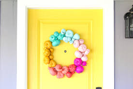 Make Halloween Wreath by Make A Colorful Halloween Wreath In About An Hour Lovely Indeed