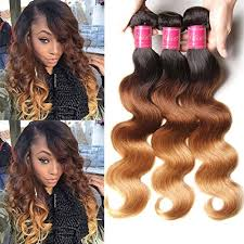 ombre weave ali ombre wave hair weave 3 bundles 7a