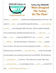 turkey day mad lib s guaranteed giddy