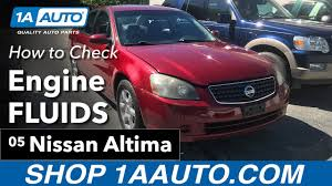 nissan altima 2005 parts how to check engine fluids 2005 nissan altima youtube