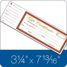 gift certificates gift certificate book single paper 25 numbered certificates per book
