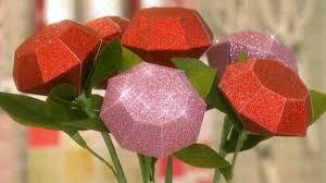 Paper Roses Video Glittered Paper Roses Martha Stewart