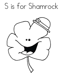 4 leaf clover template a single four leaf clover coloring page color