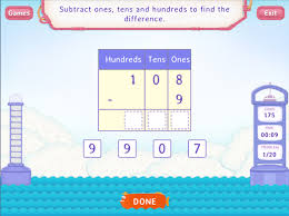 subtract by breaking up tens and hundreds worksheets 2nd grade math