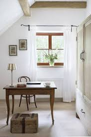 Vintage Desks For Home Office by Cottage Home Office Design Style With White Walls And Sheer