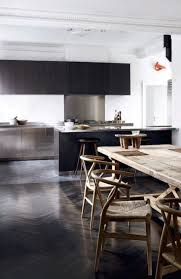 black modern kitchen go hang out in cool manner with scandinavian stools ideas homesfeed