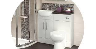 Hudson Reed Bathroom Furniture Hudson Reed Gloss White Compact Fitted Bathroom Furniture Vp