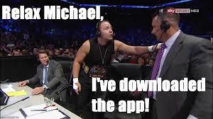 Dean Ambrose Memes - wrestlinglol dean ambrose confronts michael cole