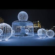 waterfall motif outdoor lighted balls