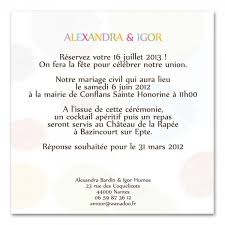 texte invitation mariage faire part mariage color
