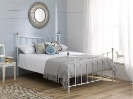 Antique White Metal Bed Frame Amazing Antique White Graceful Lines Iron Metal