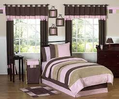 Brown Queen Size Comforter Sets Soho Pink And Brown Comforter Set 3 Piece Full Queen Size By