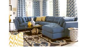 indigo leather sofa 2 399 99 cindy crawford metropolis indigo 4pc sectional living