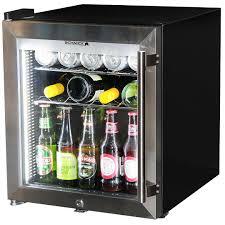 mini bar refrigerator glass door glass door bar fridge tropical rated led lighting and lock left