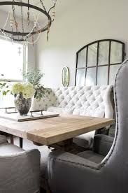 White Dining Room Table by Best 25 Settee Dining Ideas On Pinterest Cozy Dining Rooms