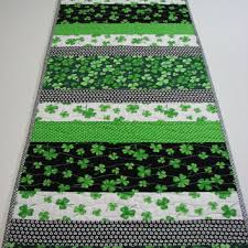 st patrick s day table runner quilted table runner halloween table from villagequilts on etsy