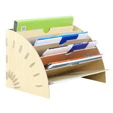 Paper Desk Organizer Desk Document Organizer Friendly Hollow Out Wooden Desk Organizer