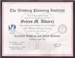 wedding planner certification course graceful weddings events planning miami fl weddingwire