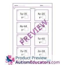step u0026 two step equations worksheets with scaffolding