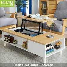 side table with laptop storage coffee table computer office desk study bed side lift top