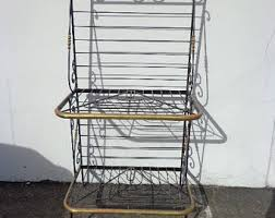 Bakers Rack Wrought Iron Vintage Bakers Rack Etsy
