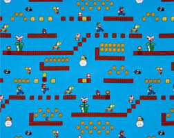mario wrapping paper nintendo mario brothers fabric quilting cotton