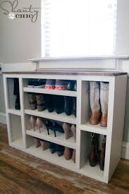 Free Standing Storage Cabinet Plans by Diy Shoe Storage Cabinet Shanty 2 Chic