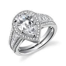 antique diamond engagement rings vintage pear shaped diamond engagement ring check out more pear