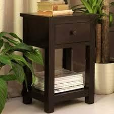 dark wood side table astrid handpainted wood bedside table handpainted bedside table