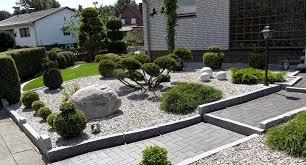 gartengestaltung mit steinen und grsern kies steine vorgarten picture picture kiesgarten