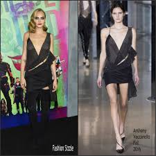Fashion Sizzlers Archives Fashionsizzle by Cara Delevingne In Anthony Vaccarello At The Squad New