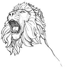 realistic lion coloring pages inkspired musings roaring like a lion graphic design